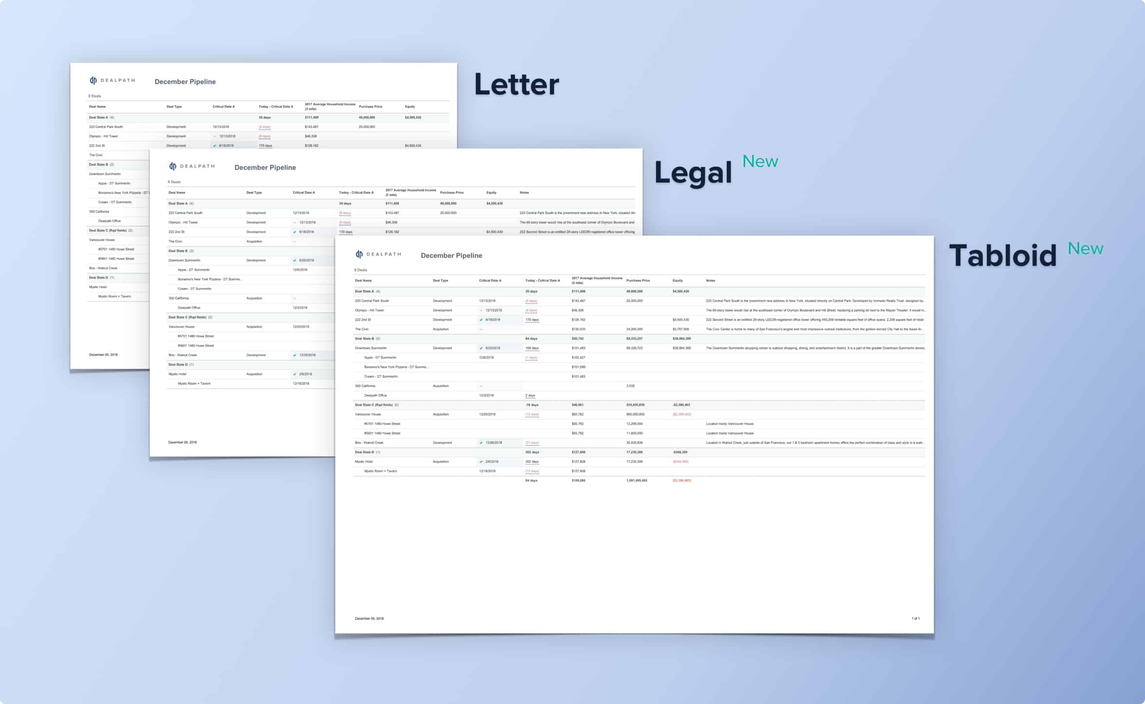 Dealpath PDF Exports