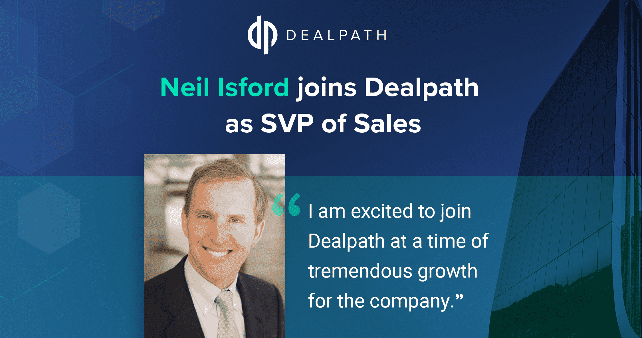Neil Isford joins Dealpath as Senior VP, Sales