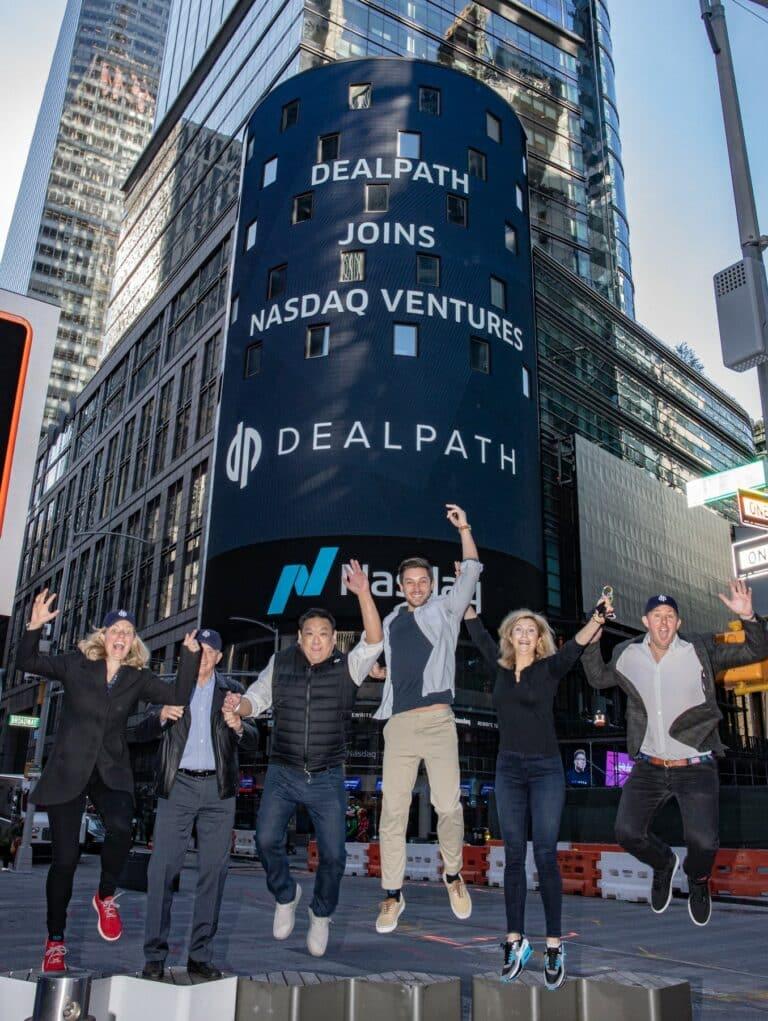 Dealpath Team in Times Square for NASDAQ announcement